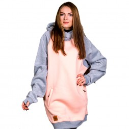 Mountainman Siberian Bear Hodie Peach/Grey