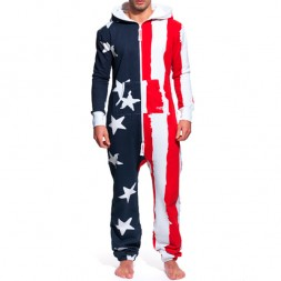 Onepiece Stars and Stripes Jumpsuit Navy/White/Red