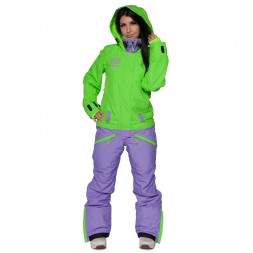 Cool Zone Womens Twin Melange 17/18, лайм/фиолет