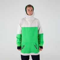 Intro Hoodie beige/neongreen