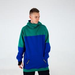 Intro Hoodie green/dark blue