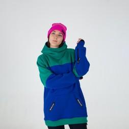 Intro ws Hoodie green/dark blue