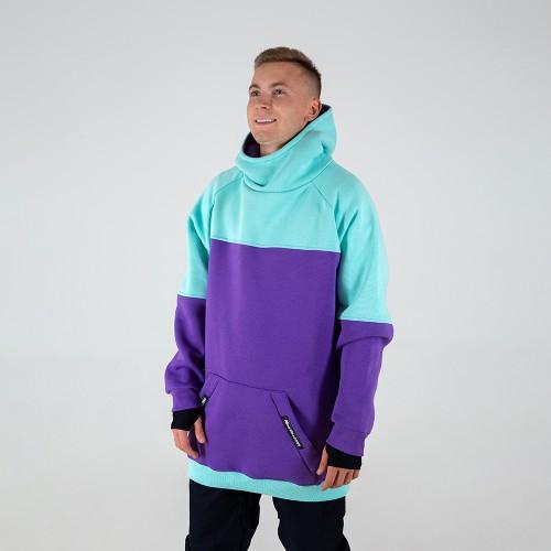 Толстовка удлиненная Intro Hoodie mint/purple