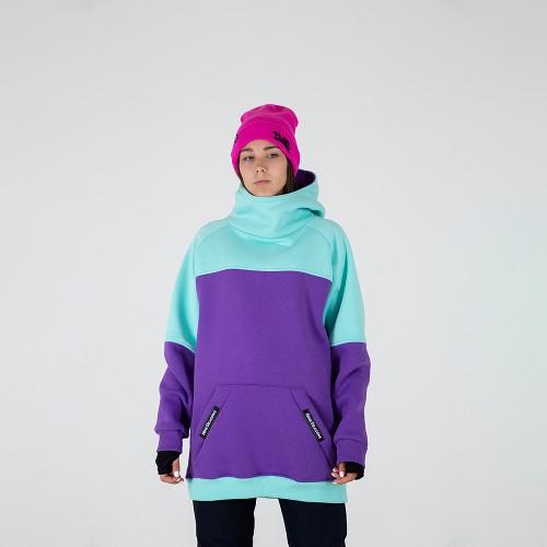 Толстовка удлиненная Intro ws Hoodie mint/purple