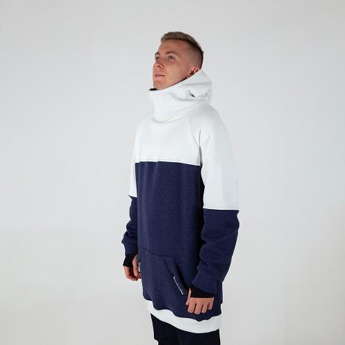 Толстовка удлиненная Intro Hoodie white/navy