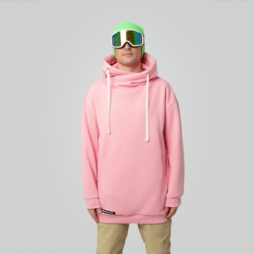 Толстовка удлиненная Standart Hoodie Pink