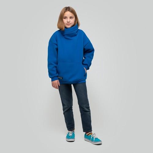 Толстовка удлиненная Light Hoodie teens Blue