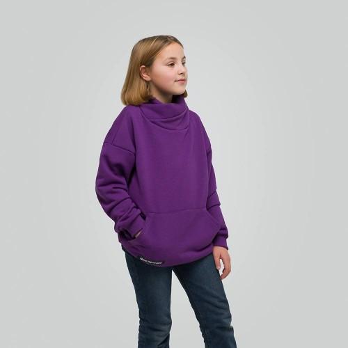 Толстовка удлиненная Light Hoodie teens Violet