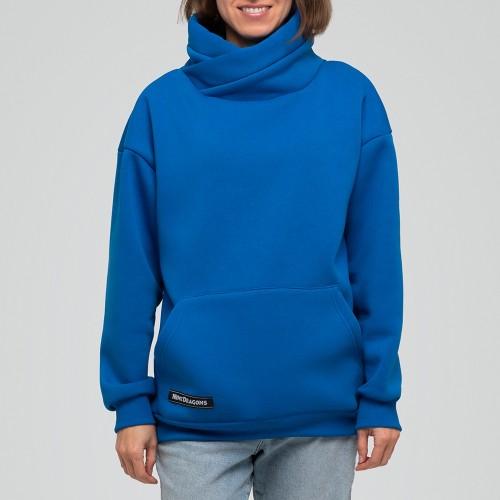 Толстовка удлиненная Light Hoodie womens Blue