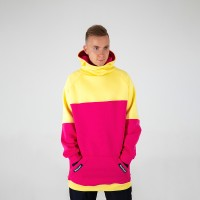 Intro Hoodie yellow/pink