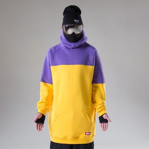 Толстовка удлиненная NM4 Homies Ninja 2 Yellow/Purple