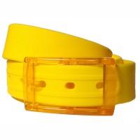 Ремень силиконовый желтый
