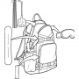 Рюкзак для сноуборда Burton Riders Pack 25L Golden Oak Heather 17/18