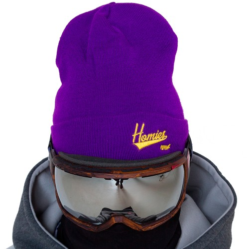 Шапка NM4 Homies Beanie purple/yellow