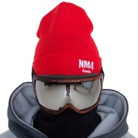 NM4 Logo Beanie red/white