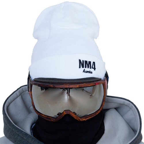Шапка NM4 Logo Beanie white/black