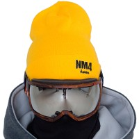 NM4 Logo Beanie yellow/black
