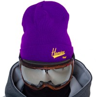 NM4 Homies Beanie purple/yellow