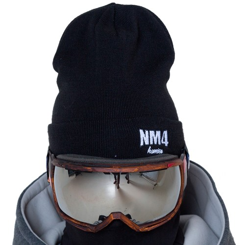Шапка NM4 Logo Beanie black/white
