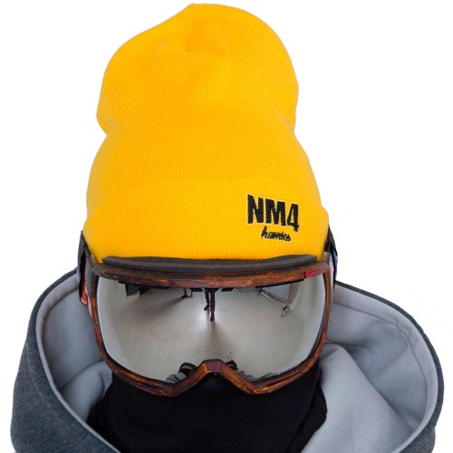 Шапка NM4 Logo Beanie yellow/black