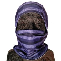 Phunkshun Convertible Ballerclava Stripes Purple 16/17