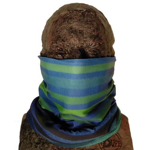 Теплый шарф Phunkshun Thermal Tube Stripes Green Blue 16/17