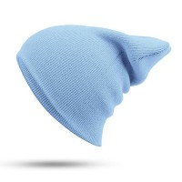 Blank Beanie Light Blue