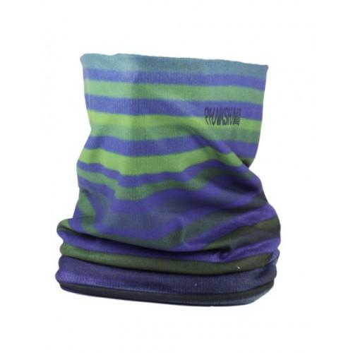Шарф флисовый Phunkshun Fleece Tube Stripes Green/Blue 16/17