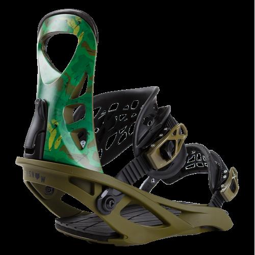 Крепления для сноуборда Terror Camo Green