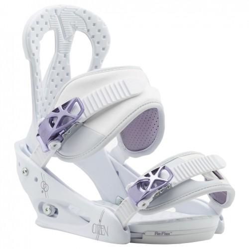 Крепления для сноуборда женские Burton Citizen 17/18, white/purple