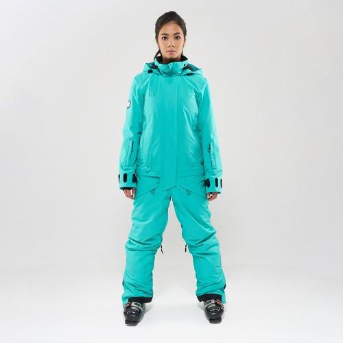 Комбинезон для сноуборда и лыж женский Cool Zone Twin One Color 19/20 мятный