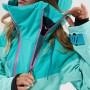 Комбинезон для сноуборда и лыж женский Cool Zone Kite 19/20 мятный/голубой/синий