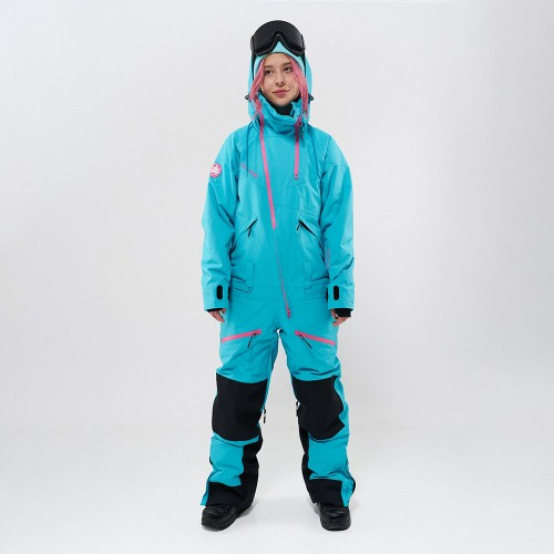 Комбинезон для сноуборда и лыж женский Cool Zone Kite One Color 19/20 бирюзовый