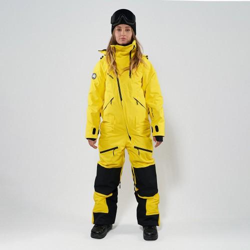 Комбинезон для сноуборда и лыж женский Cool Zone Kite One Color 19/20 желтый