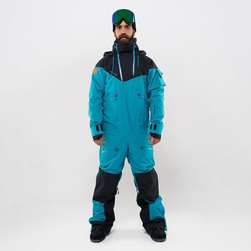 Комбинезон для сноуборда с лыж мужской CoolZone Kite 19/20 черный/волна