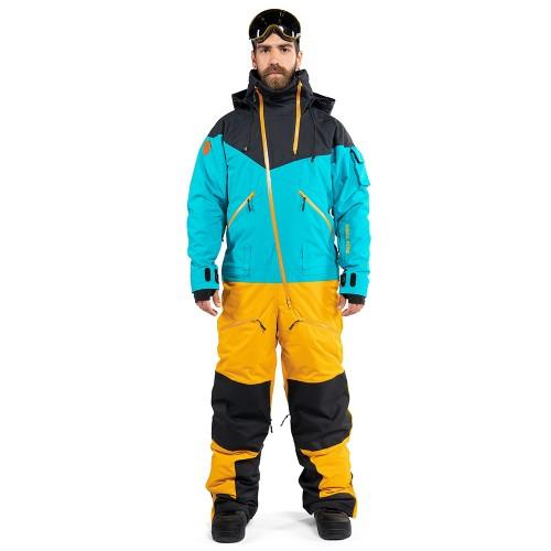 Комбинезон для сноуборда с лыж мужской CoolZone Kite 19/20 черный/волна/горчичный
