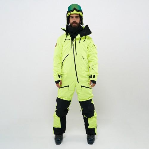 Комбинезон для сноуборда с лыж мужской CoolZone Kite 19/20 салатовый