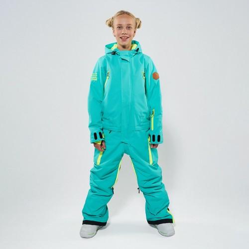 Комбинезон для сноуборда и лыж детский CoolZone Fun Teens 19/20 мятный/салатовый