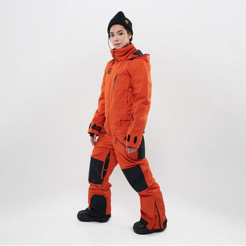 Комбинезон для сноуборда и лыж женский CoolZone Urban 19/20 рыжий