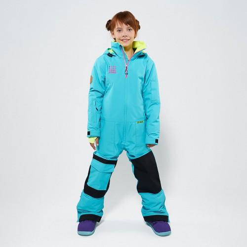 Комбинезон для сноуборда и лыж детский CoolZone Ice Kids 19/20 бирюзовый