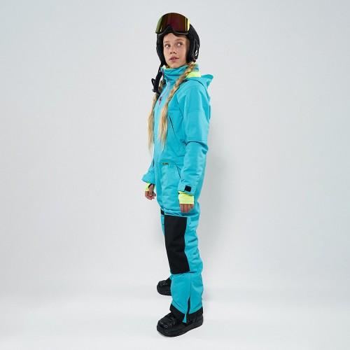 Комбинезон для сноуборда и лыж детский CoolZone Ice Teens 19/20 бирюзовый