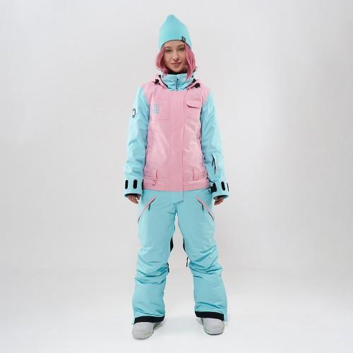 Комбинезон для сноуборда и лыж женский Cool Zone Flex 19/20 св.розовый/аквамарин