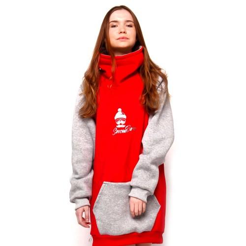 Толстовка для сноуборда Snowbro Шон Red/Grey