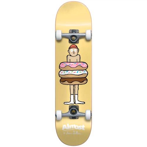 Скейтборд в сборе детский Almost Donuts Youth FP Yellow Mini 7.0