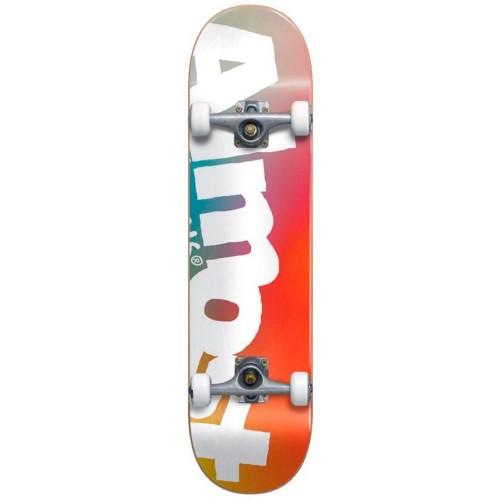 Скейтборд в сборе подростковый Almost Side Pipe Fade Youth FP Multi Mid 7.375