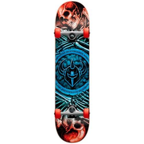 Скейтборд в сборе детский Darkstar Remains Youth FP Soft Wheels Blue Fade Mini 7.0