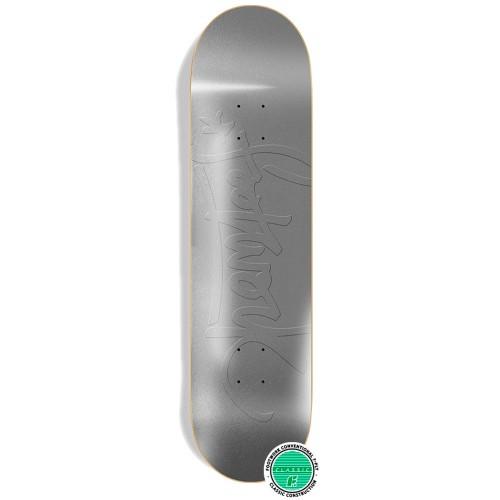 Дека для скейта Footwork Classic Tag Metallic Silver 8.25 x 31.75