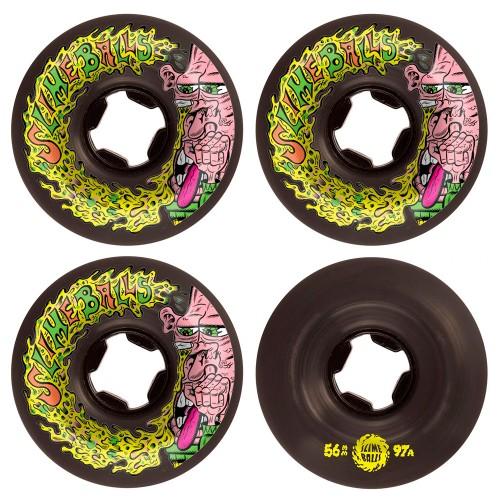 Комплект колес для скейтборда Santa Cruz Slime Balls Snotwheel Vomit Mini Black 56 mm 97a