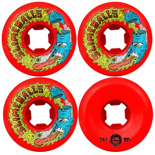 Комплект колес для скейтборда Santa Cruz Slime Balls Barfhead Vomit Mini Red 54 mm 97a
