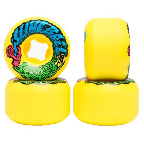 Комплект колес для скейтборда Santa Cruz Slime Balls Vomit Mini Neon Yellow 54 mm 97a